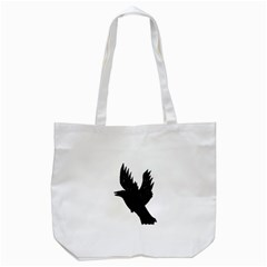 Hovering crow Tote Bag (White)