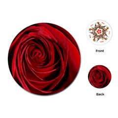 Beautifully Red Playing Cards (Round)