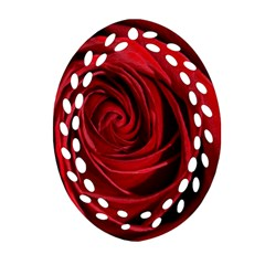 Beautifully Red Oval Filigree Ornament (2 Side)
