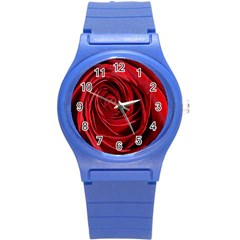 Beautifully Red Round Plastic Sport Watch (S)