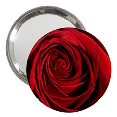 Beautifully Red 3  Handbag Mirrors