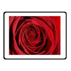 Beautifully Red Double Sided Fleece Blanket (small)