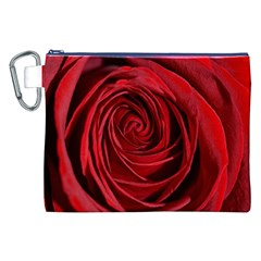 Beautifully Red Canvas Cosmetic Bag (xxl)