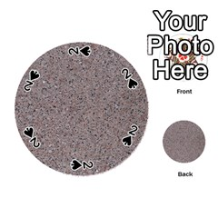 Granite Red Grey Playing Cards 54 (round)