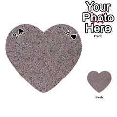 Granite Red Grey Playing Cards 54 (heart)