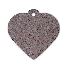 GRANITE RED-GREY Dog Tag Heart (One Side)