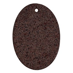 GRANITE RED-BROWN Oval Ornament (Two Sides)