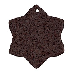 Granite Red Brown Ornament (snowflake)