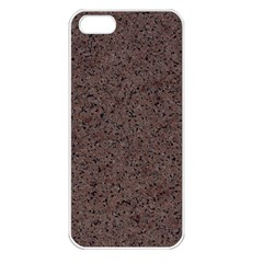 GRANITE RED-BROWN Apple iPhone 5 Seamless Case (White)