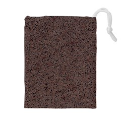 GRANITE RED-BROWN Drawstring Pouches (Extra Large)
