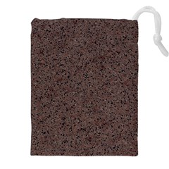 GRANITE RED-BROWN Drawstring Pouches (XXL)