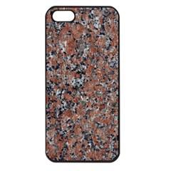 GRANITE RED-BLACK Apple iPhone 5 Seamless Case (Black)