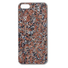 GRANITE RED-BLACK Apple Seamless iPhone 5 Case (Clear)