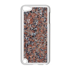 GRANITE RED-BLACK Apple iPod Touch 5 Case (White)