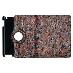 GRANITE RED-BLACK Apple iPad 3/4 Flip 360 Case