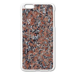 GRANITE RED-BLACK Apple iPhone 6 Plus/6S Plus Enamel White Case