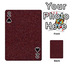 Granite Red 1 Playing Cards 54 Designs