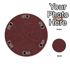 Granite Red 1 Playing Cards 54 (round)