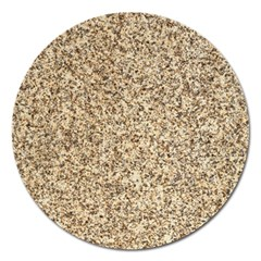 GRANITE BROWN 3 Magnet 5  (Round)