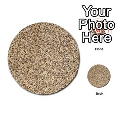 Granite Brown 3 Multi Purpose Cards (round)