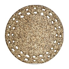 Granite Brown 3 Ornament (round Filigree)