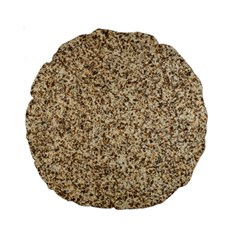 GRANITE BROWN 3 Standard 15  Premium Round Cushions