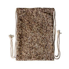 Granite Brown 3 Drawstring Bag (small)
