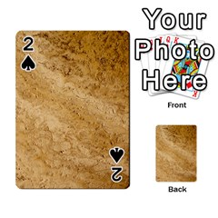 Granite Brown 2 Playing Cards 54 Designs