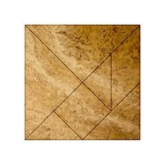 GRANITE BROWN 2 Acrylic Tangram Puzzle (4  x 4 )
