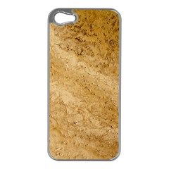 GRANITE BROWN 2 Apple iPhone 5 Case (Silver)