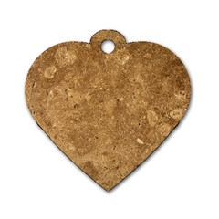 GRANITE BROWN 1 Dog Tag Heart (Two Sides)