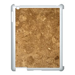 GRANITE BROWN 1 Apple iPad 3/4 Case (White)