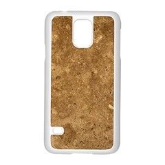 GRANITE BROWN 1 Samsung Galaxy S5 Case (White)