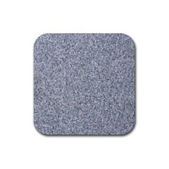 GRANITE BLUE-GREY Rubber Coaster (Square)