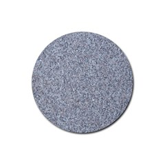 GRANITE BLUE-GREY Rubber Coaster (Round)