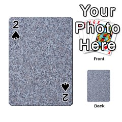 Granite Blue Grey Playing Cards 54 Designs
