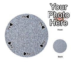 Granite Blue Grey Playing Cards 54 (round)