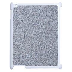 GRANITE BLUE-GREY Apple iPad 2 Case (White)