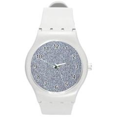 GRANITE BLUE-GREY Round Plastic Sport Watch (M)