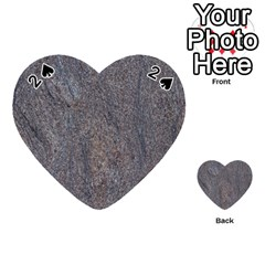 Granite Blue Brown Playing Cards 54 (heart)