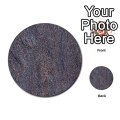 Granite Blue Brown Multi Purpose Cards (round)