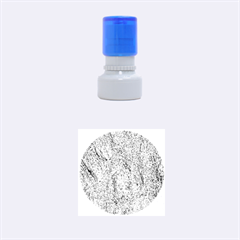 GRANITE BLUE-BROWN Rubber Round Stamps (Small)