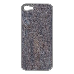 GRANITE BLUE-BROWN Apple iPhone 5 Case (Silver)