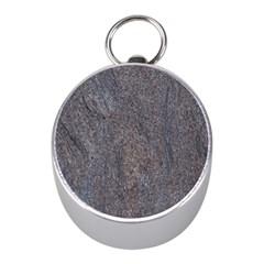 GRANITE BLUE-BROWN Mini Silver Compasses