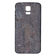 GRANITE BLUE-BROWN Samsung Galaxy S5 Back Case (White)