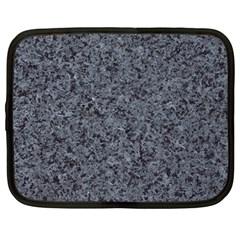 GRANITE BLUE-BLACK 3 Netbook Case (Large)