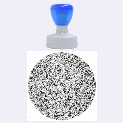 GRANITE BLUE-BLACK 3 Rubber Round Stamps (Large)