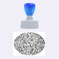 GRANITE BLUE-BLACK 3 Rubber Oval Stamps