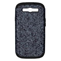 GRANITE BLUE-BLACK 3 Samsung Galaxy S III Hardshell Case (PC+Silicone)