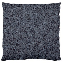 GRANITE BLUE-BLACK 3 Large Flano Cushion Cases (Two Sides)